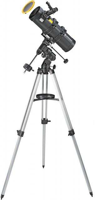 BRESSER Telescope Spica 130/1000 EQ3 - Reflector with Smartphone Adapter