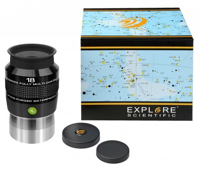 """EXPLORE SCIENTIFIC 82° Ar Eyepiece 18mm (2"""")"""