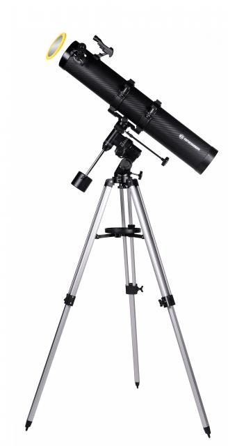 BRESSER Telescope Galaxia 114/900 EQ-Sky with Smartphone Camera Adapter