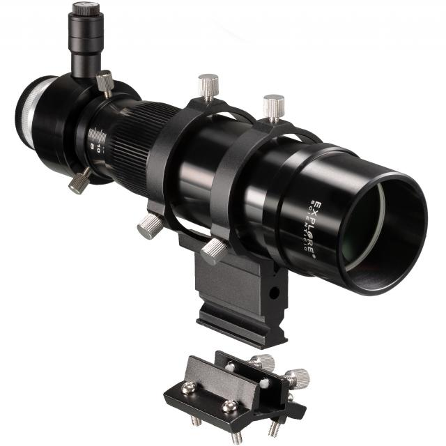 EXPLORE SCIENTIFIC 8x50 Finder and Guider Scope with Helical Focuser, 1.25inch and T2 connection