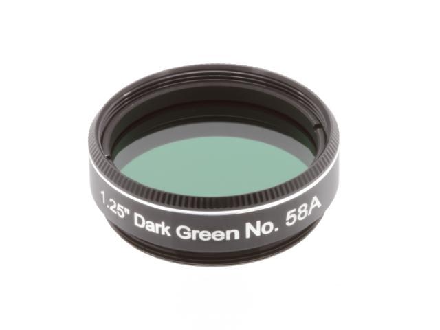 "EXPLORE SCIENTIFIC Filter 1.25"" Dark Green No.58A"