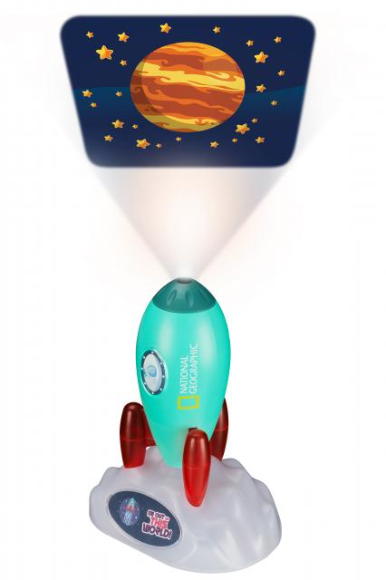 NATIONAL GEOGRAPHIC Space Rocket Slide Projector & Night Light